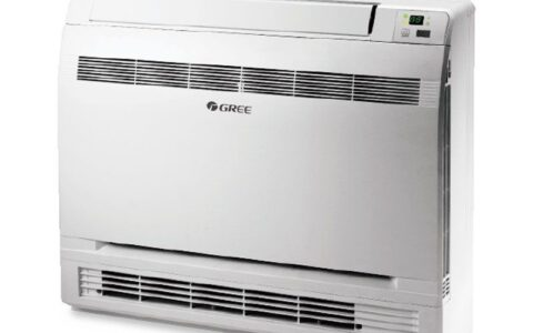 Biała klimatyzacja kasetonowa bydgoszcz marki Gree, model Amber Prestige. Mozna taka znalezc w klimatyzacja Kwidzyn